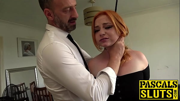 Busty redhead Harley Morgan c. on cock before r...