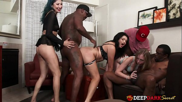 MDDS Rebel Rhyder and Kitty Jaguar Interracial Orgy DP Party