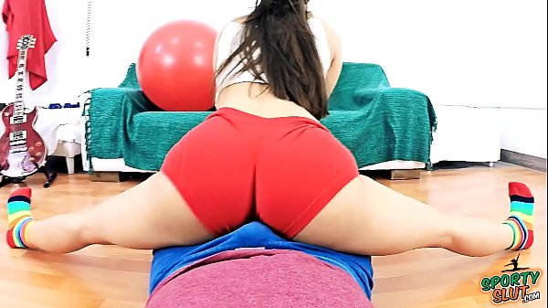 Extremely HOT BODY Teen Working Out on Top of a Lucky Guy. PUFFY TITS, CAMELTOE AND BIG ASS