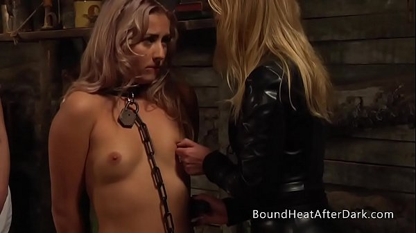Obedient Lesbian Slave Stands Humiliated In Front Of Mistress