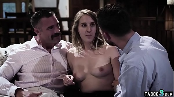 Babe fights with BF and ends up MMF fuck with s...