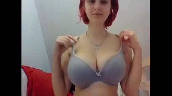 Wow slutty young girl showing amazing tits on cam