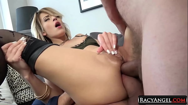 College Czech Blondie Ria Sunn Gets Double Anal...