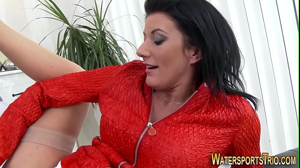 Ho pisses on guys mouth