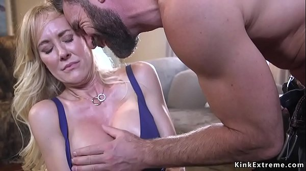 Bound huge tits Milf licked and fucked