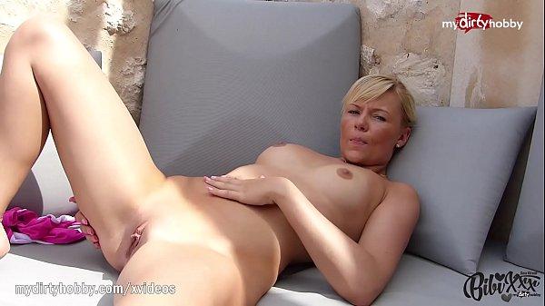 MyDirtyHobby - Petite blonde anal training with thick dildo