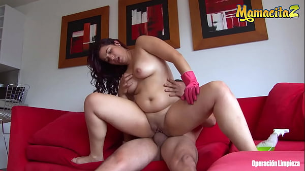 MAMACITAZ - (Ana Mesa & Pedro Nel) MILF Latina Maid POV Hot Sex With Her Boss