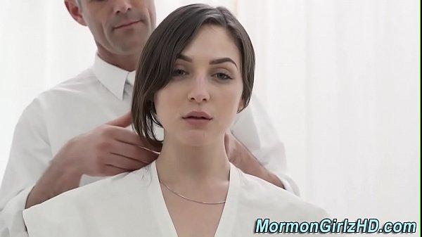 Mormon amateur rides cock