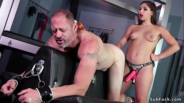Teen domme anal fucks older man