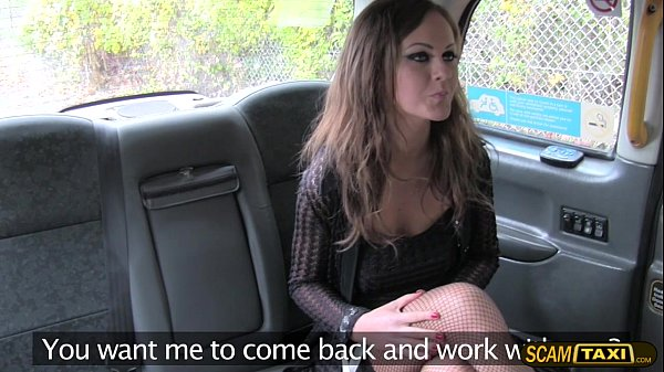Sexy Posh lady seduces the taxi driver to be her personal driver