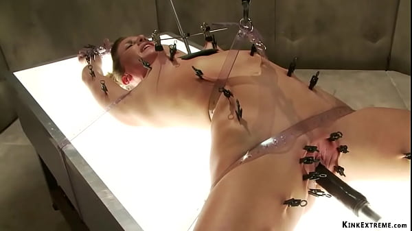 Pinned sexy slave machine fucked