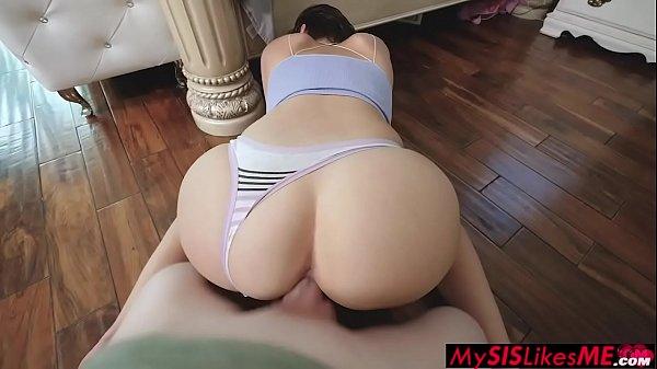Late Night Stepsister Masturbation - Natalie Porkman - FULL SCENE on http://MySISLikesME.com