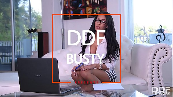 Sexy secretary Shay Evans screams for more getting banged in doggy style