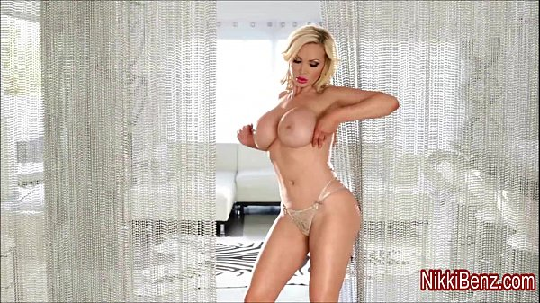 Busty Babe Nikki Benz in All Silver!