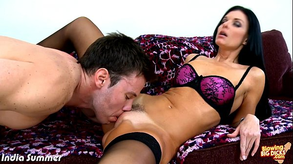 Brunette India Summer blowing a big dick Thumb