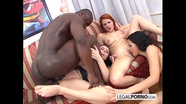Interracial foursome: Big black cock fucking three sexy chicks ITS-1-02