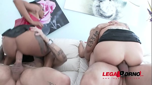American slut Nikki Darling & Ria Sunn assfucked perfectly together