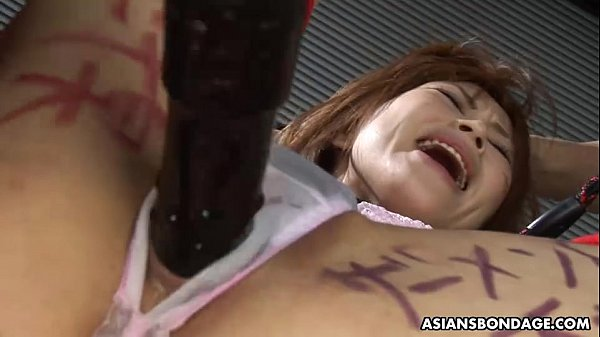 Tied up bitch getting her wet pussy toyed and fingered