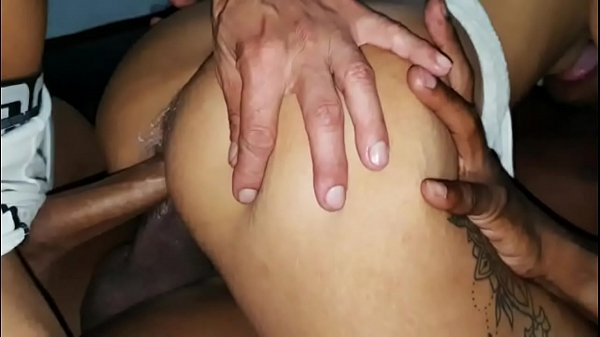 Brazilian sexy hot wife having a hardcore gangbang with her husband and two other men