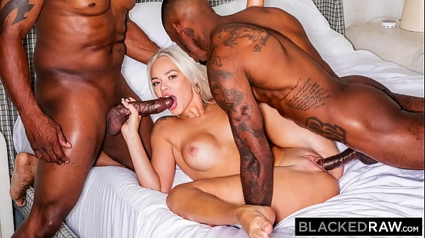 BLACKEDRAW Insatiable Elsa Jean gets spit-roast...