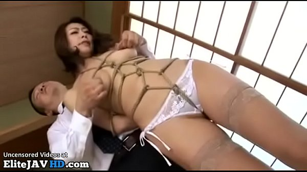 Japanese wife rough sex with the boss of her husband