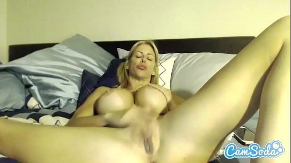 Alexis Fawx big tits MILF rubbing her pussy until massive wet orgasm.