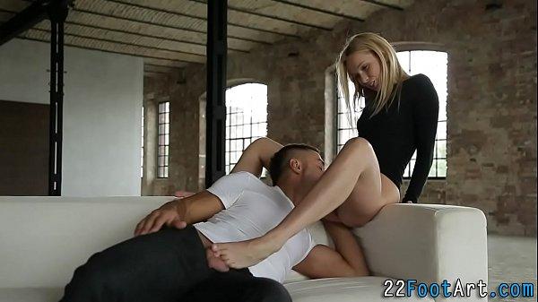 Foot fetish blonde rides