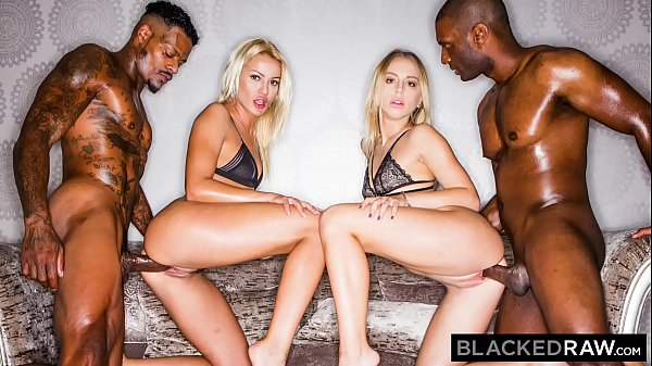 BLACKEDRAW Two Blondes Fuck Two Dominant BBCs A...