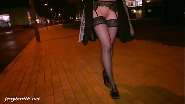 Stockings flashing in spring by Jeny Smith