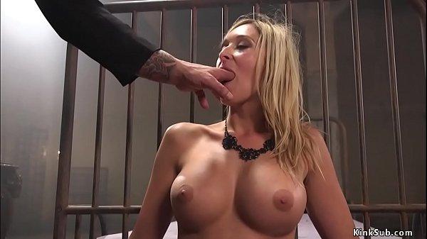 Busty blonde anal bdsm banged