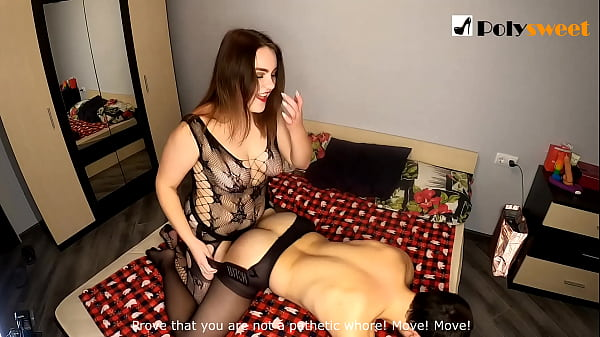 Nice girl wants to be a strapon mistress and fuck a guy (spanking, first time, comments at the end