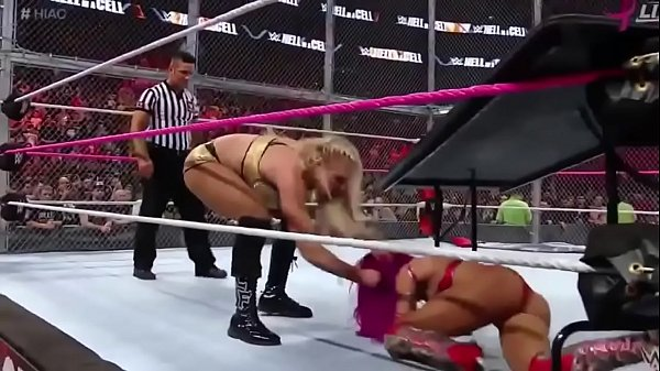 Sasha Banks Hot Ass WWE Hell in a cell 2016