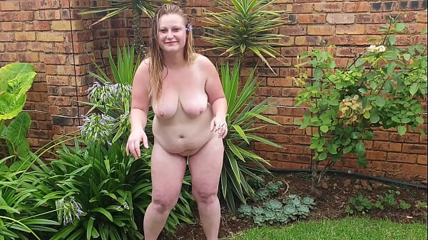 Big fat girl enjoying a cigarette outside while being naked Thumb