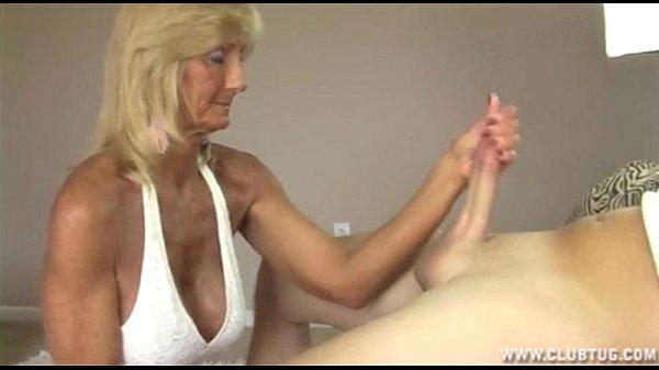 Horny Granny Jerking Off