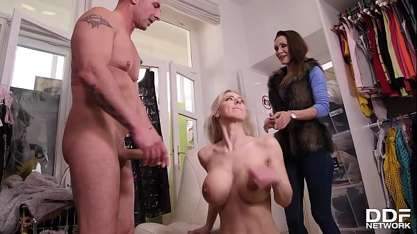 Intense cock sucking and ball licking by blonde Czech goddess Nataly Cherie Thumb