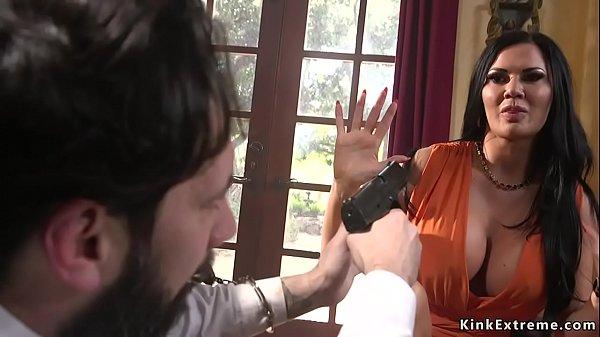Pierced pussy busty Milf anal fucked