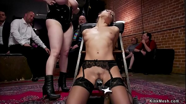 Teen slave and Milf in bdsm orgy party