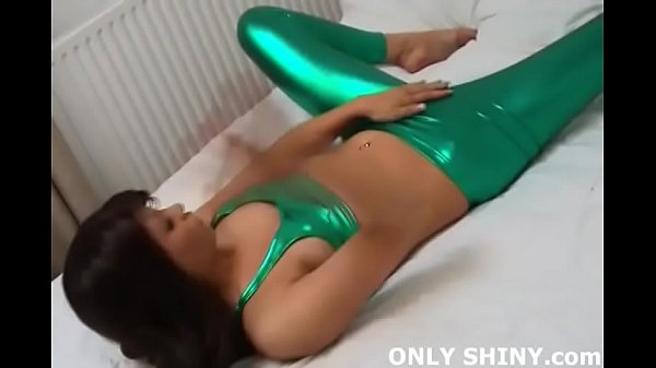 These green PVC panties really hug my pussy