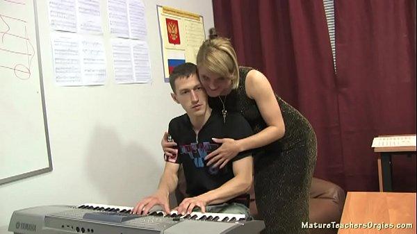 Russian mature teacher 10 - Elise (piano lesson)  thumbnail