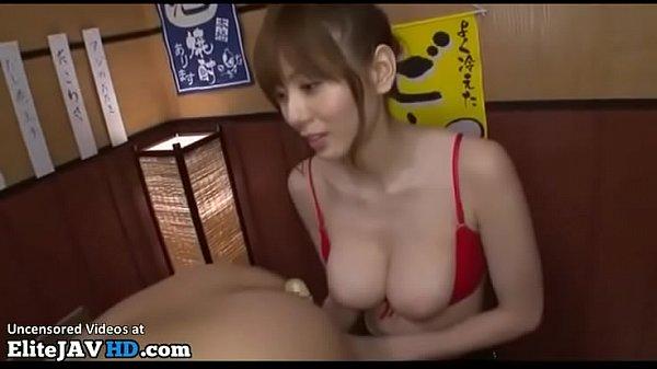 Japanese busty Milf fucks shy college guy