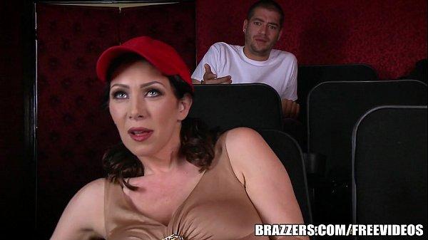 Brazzers - Dude fucks stepmom in the porn theater Thumb