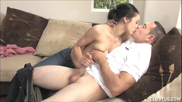 Sexy Brunette Morning Handjob On The Couch Thumb