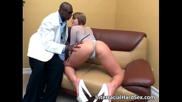 Interracial sex show with horny bitch