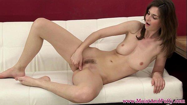 Masturbating babe orgasms after using sextoy