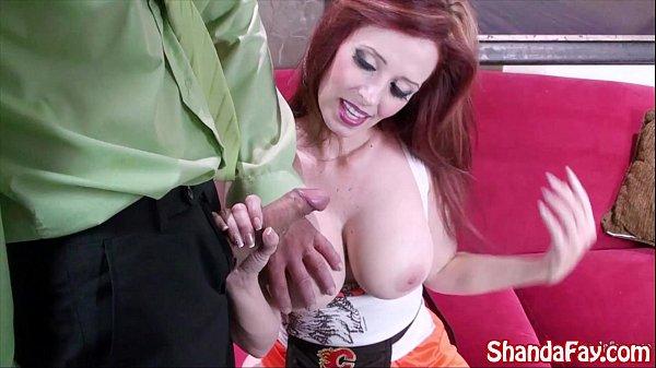 Sexy Hooter's Girl Shanda Fay Sucks For a Big Tip!
