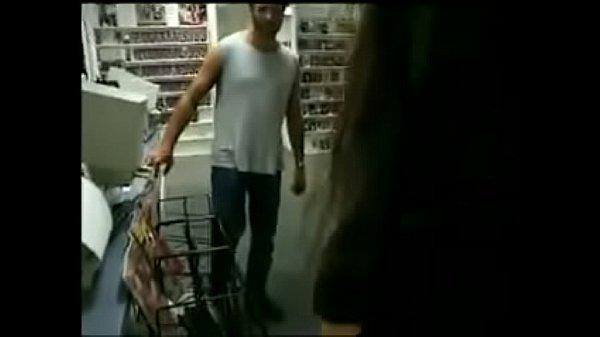 Tia Bella fucks in the video store!