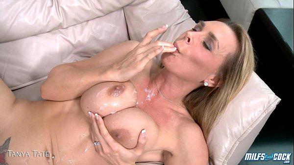 Blond milf Tanya Tate gets tits jizzed Thumb
