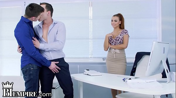 BiEmpire Ornella Morgan Wants To Join in Hot Office Guys Fucking!