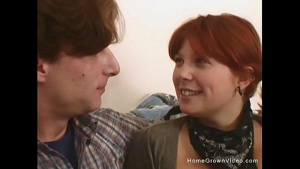 Hairy redhead makes love to her boyfriend