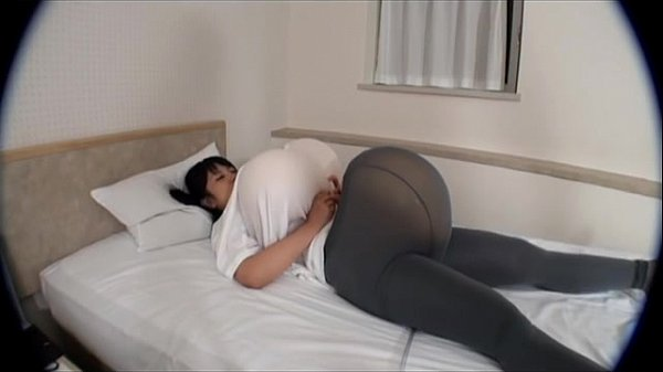 funny!! body inflation, belly inflation, bosome inflation, Japanese girl